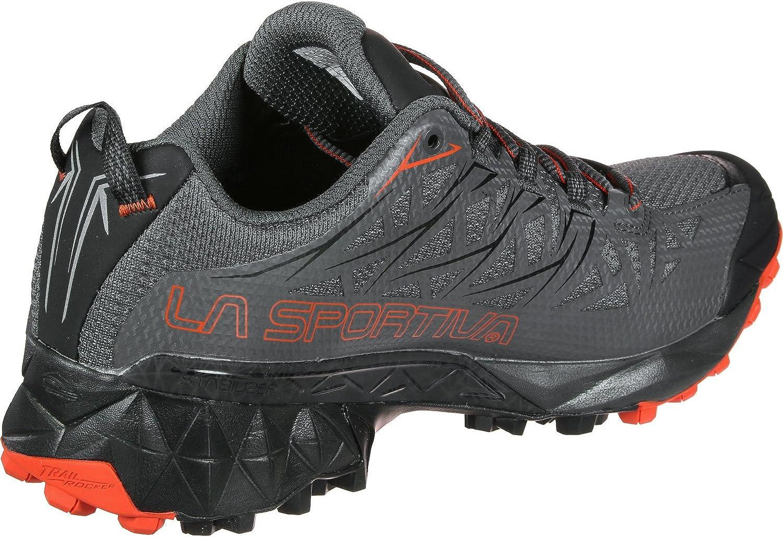 LA SPORTIVA Akyra GTX, Chaussures de Trail Homme Multicolore Gris Orange Carbon Tangerine 000