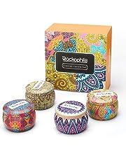 Rackaphile Velas Aromaticas [4*4 oz], Velas Perfumadas Grande, Velas en