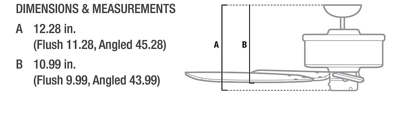 Hunter 53125 Bridgeport 52-Inch ETL Damp Listed Ceiling Fan with Five White Plastic Blades White