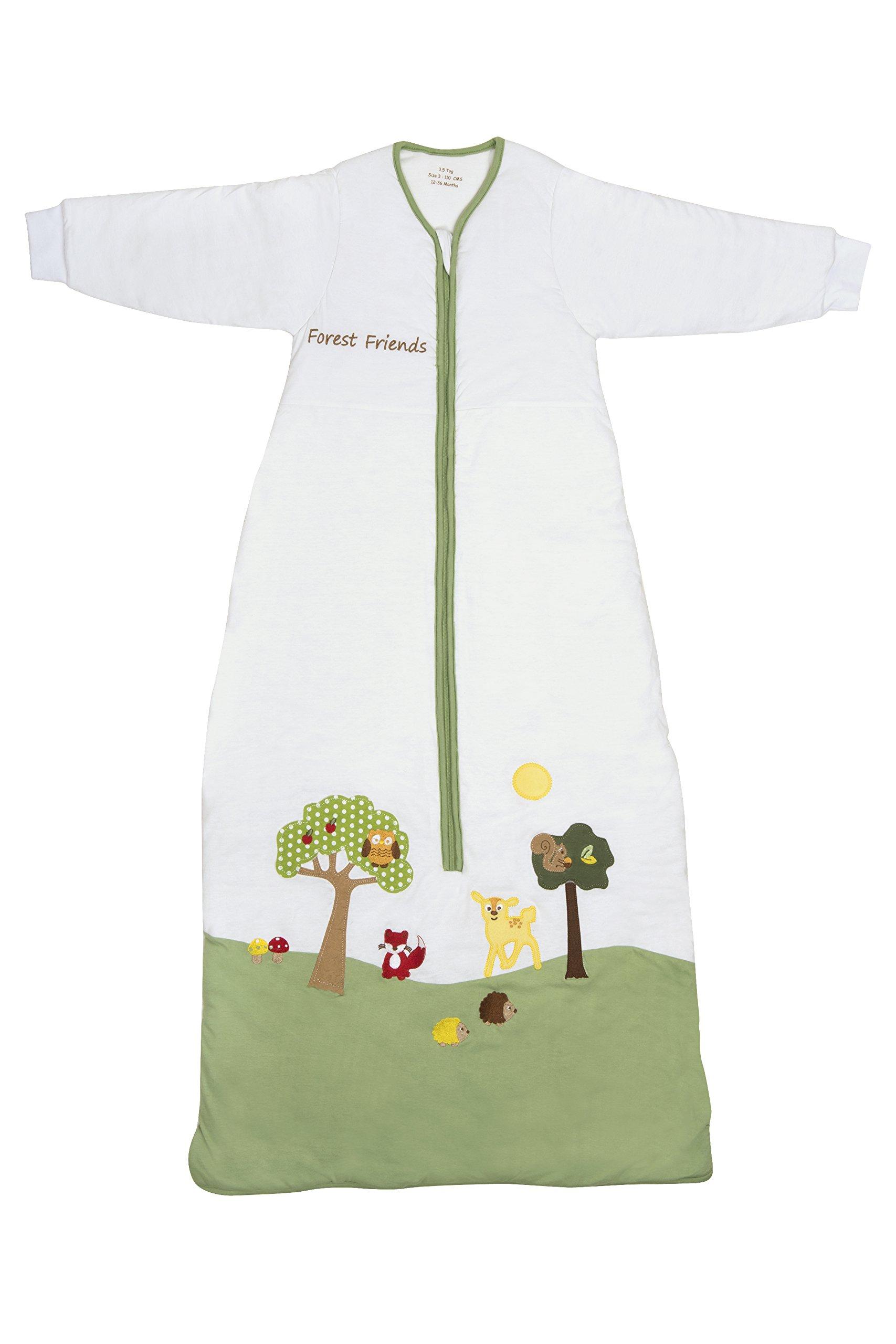 Slumbersafe Winter Toddler Sleeping Bag Long Sleeves 3.5 Tog - Forest Friends, 18-36 Months/Large by Slumbersafe