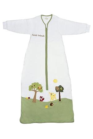 Slumbersac Forest Friends - Saco de dormir de invierno para bebé (manga larga, 3.5 tog, varias tallas: 0 meses a 6 años), diseño de amigos del bosque ...