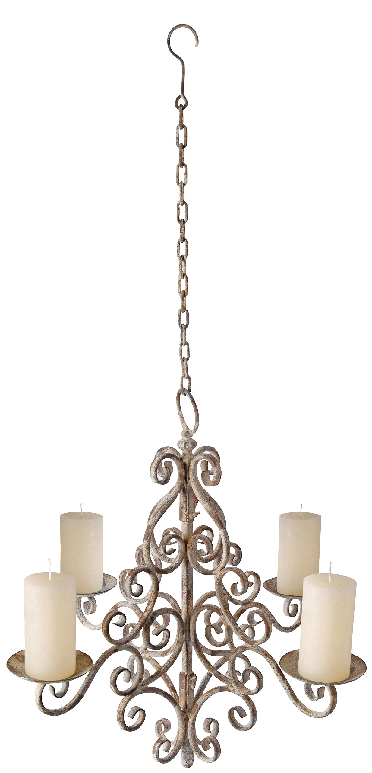 Esschert Design AM06 Aged Metal Chandelier by Esschert Design USA