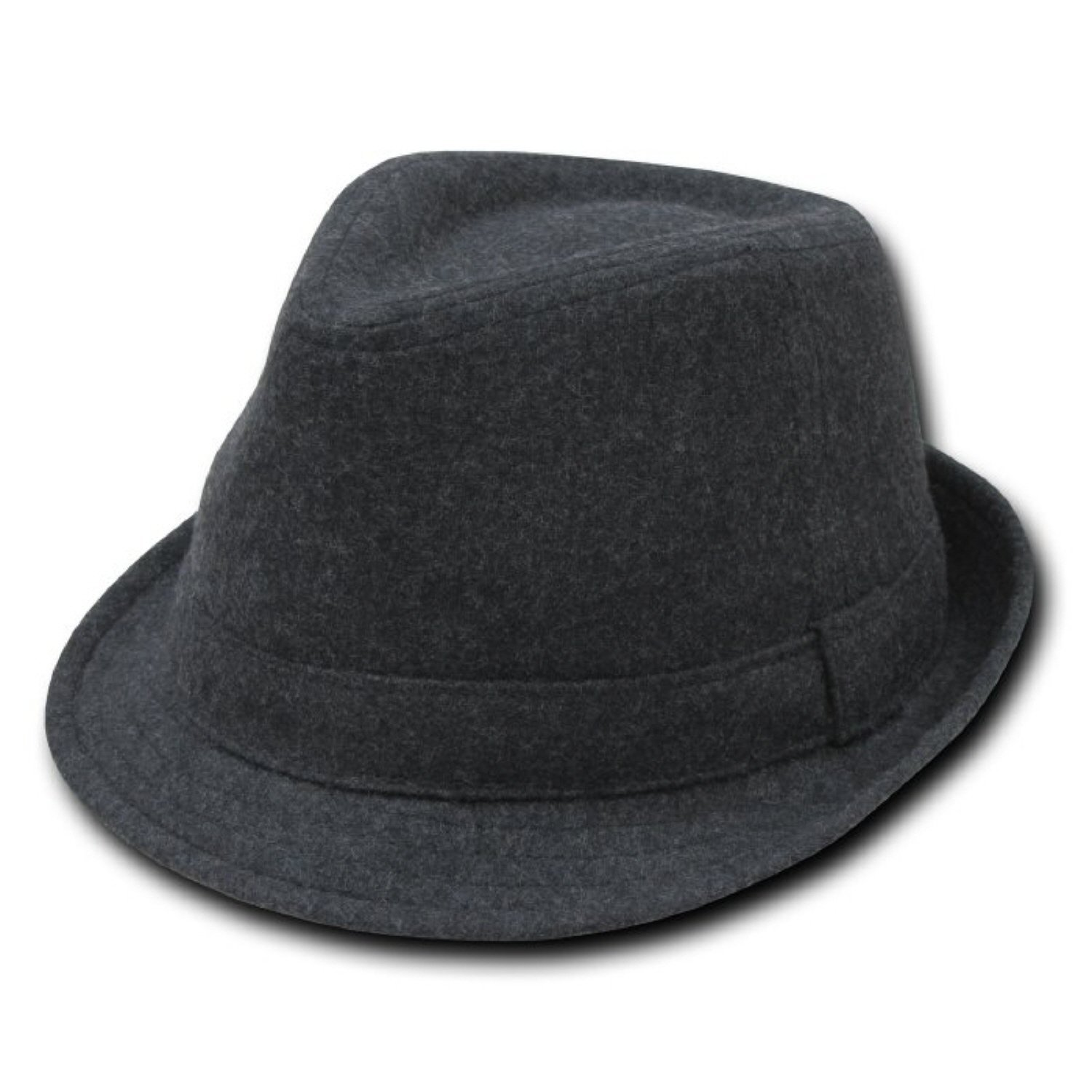 Decky Melton Wool Fedora Hat Charcoal Grey (Small/Medium)