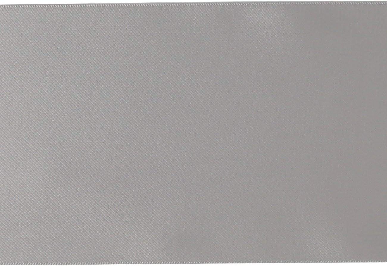 007 Argento RUSPEPA 4,5 m x 100 mm di Larghezza Double Face Nastro di Raso