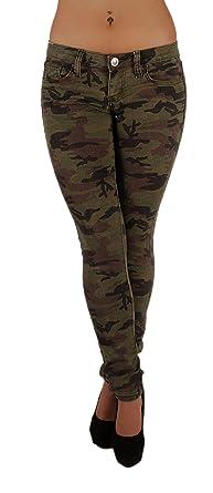851d218df83 Women`s Plus   Junior Size Classic 5 Pockets Camouflage Skinny Jeans