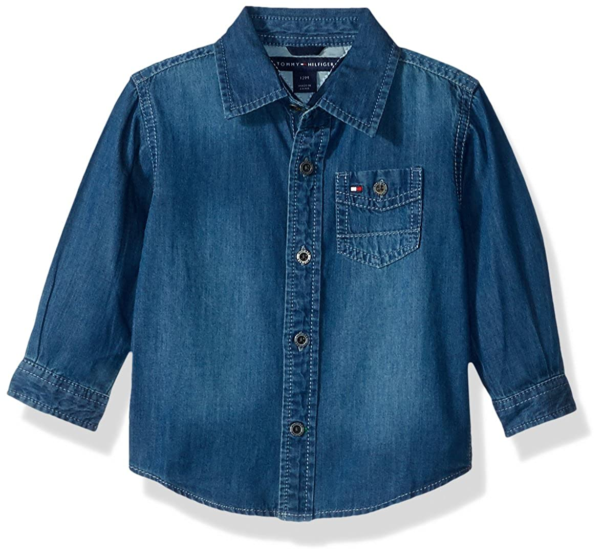 Tommy Hilfiger Baby Boys' Long Sleeve Max Denim Shirt