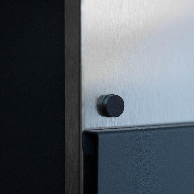 T Modell Anthrazit//Silber HENGMEI Design Briefkasten mit Zeitungsrolle Nameschild Postkasten Wandbriefkasten Mailbox Gro/ß Zeitungsfach Edelstahl pulverbeschichtet