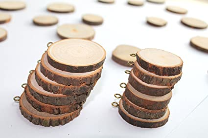 Wood Tags Unfinished Wood Craft Supplies Diy Woodcrafts Blank Wooden Gift Tags Natural Hanging Wood Pieces For Wine 50% OFF Home & Garden