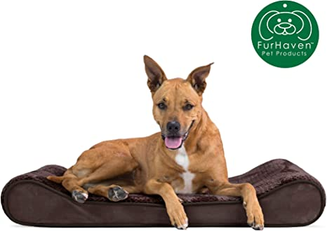 Orthopedic Ergonomic Luxe Lounger Cradle Mattress Pet Bed w// Removable Cover for Dogs /& Cats Available in Multiple Colors /& Styles Furhaven Pet Dog Bed