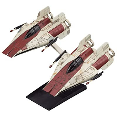 Bandai Star Wars Vehicle Model 010, A-Wing Star Fighter, 2 Model Kit Set(Japan Import): Toys & Games