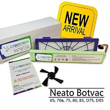 6 Filter new+6 Seitenbürste Bürste Passend Für Neato BotVac D Serie 70e D75 D85