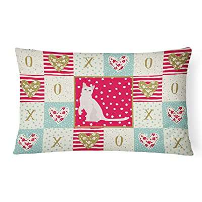 Caroline's Treasures CK5749PW1216 Burmilla #1 Cat Love Canvas Fabric Decorative Pillow, 12H x16W, Multicolor : Garden & Outdoor