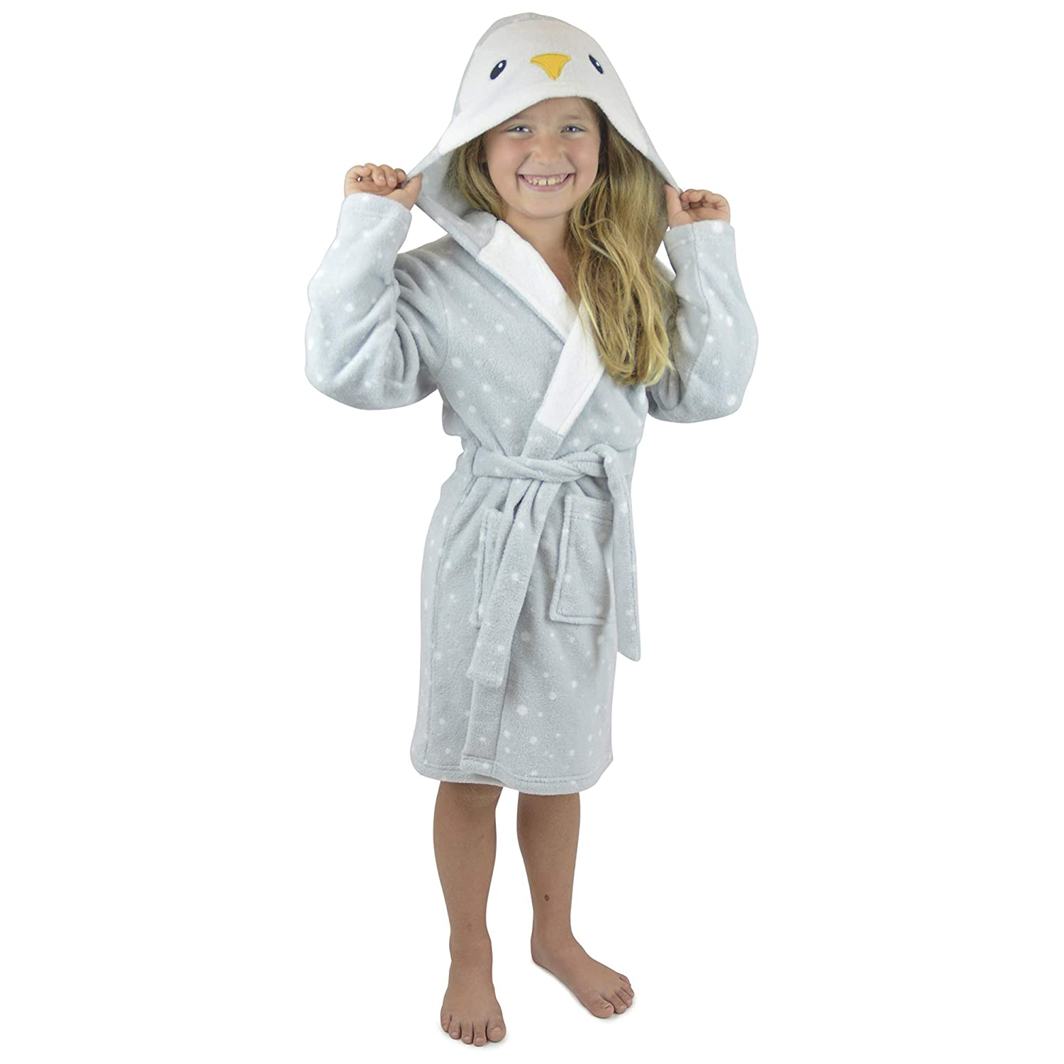 Foxbury Childrens Novelty Animal Hood Fleece Dressing Gown
