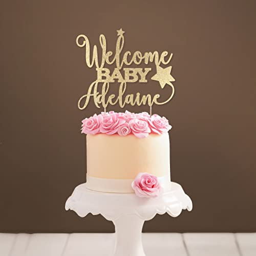 Amazon Personalized Welcome Baby Cake Topper Baby Shower Cake