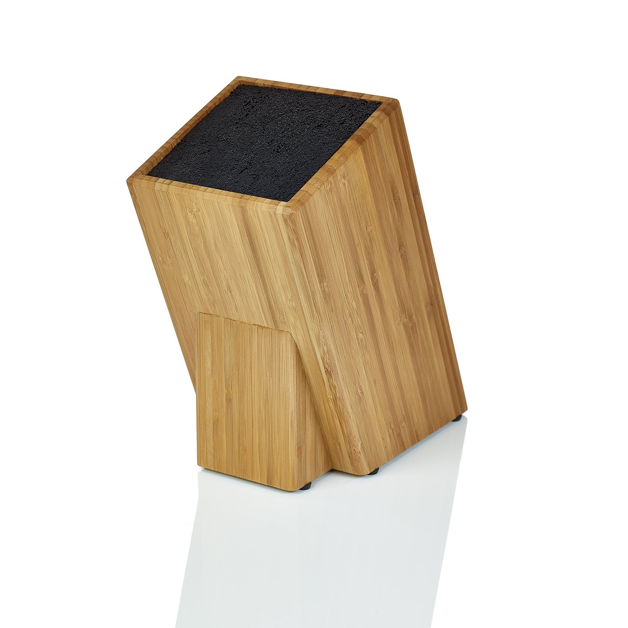 Kapoosh Dice Knife Block, Bamboo Wood