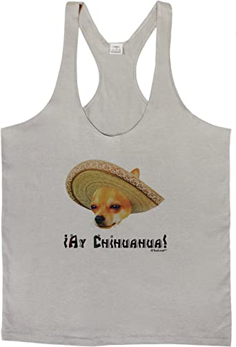 Patchwork Design Muscle Shirt TooLoud Chihuahua Dog with Sombrero