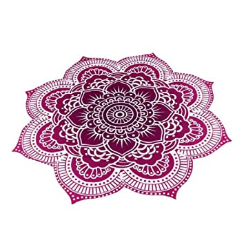 Sannysis toallas de playa 150 x 150 cm, toallas de playa baratas, forma de flor (Púrpura): Amazon.es: Hogar