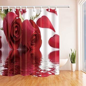 GoHEBE Valentine \'s Day Vorhänge Dusche für Badezimmer rot Rose ...