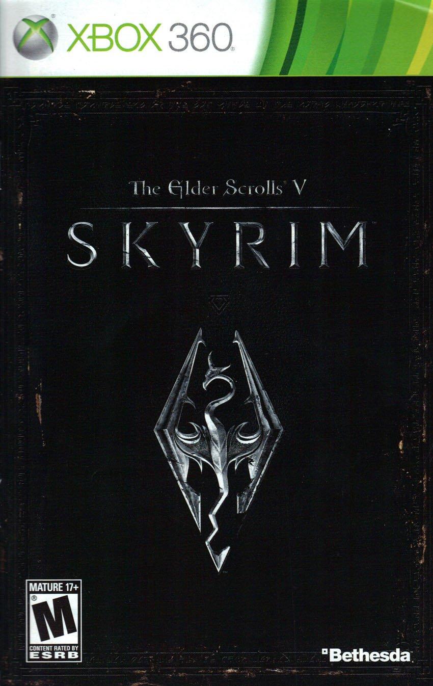 the elder scrolls v skyrim xbox 360 instruction booklet microsoft rh amazon com skyrim manual xbox 360 skyrim guide xbox 360