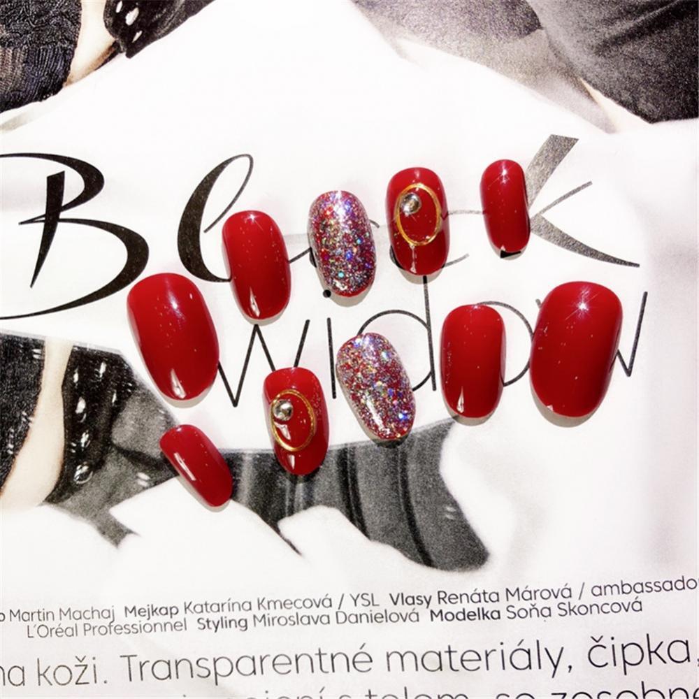Pegatinas de uñas, 3d pegatinas calcomanías decoraciones de uñas Full Cover Beauty Art Decoration Manicure Pedicure for Women Teens Girls 24Pcs/Box: ...