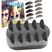 Gms Optical® 1.8mm Anti-Slip Adhesive Contoured Soft Silicone Eyeglass Nose Pads with Super Sticky Backing - 5 Pair (Black)