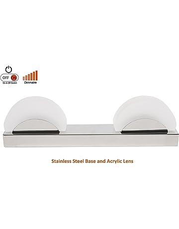 Facon 12V Lámpara de pared LED con interruptor regulable en blanco cálido para RV / Barco