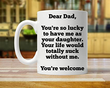 gift for dad gift from daughter mug from daughter daughter gift to dad