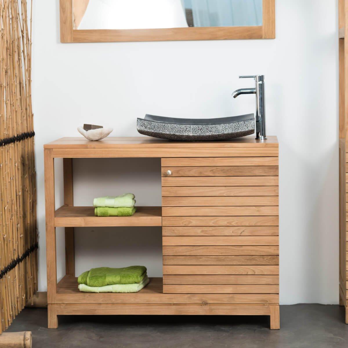 wanda collection Mueble de Teca para Cuarto de baño COURCHEVEL 100: Amazon.es: Hogar