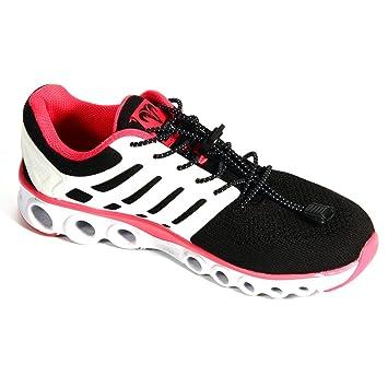 Xcellent Global Par de cordones elásticos de cierre rápido para zapatillas para la maratón y triatlón, zapatos de entrenamiento, para niños y personas ...