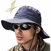 21973ae5e48 Super Wide Brim Sun Hat-UPF50+ Waterproof Bucket Hat for Fishing