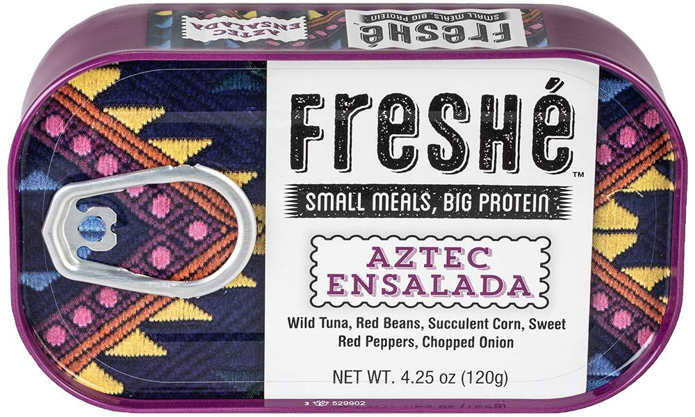 Freshé Gourmet Tuna Aztec Ensalada (6 pack of 4.25 oz. tin) With Red Beans, Succulent Corn, Sweet Red Peppers, and Chopped Onion