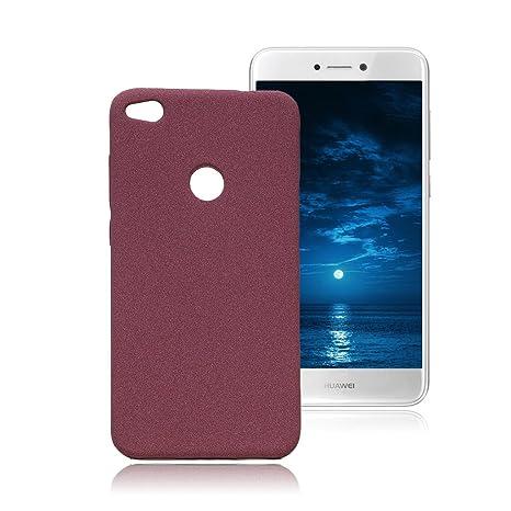 Yunbaozi Funda Huawei P8 Lite 2017 Carcasa TPU Fregar Silicona Rojo violáceo