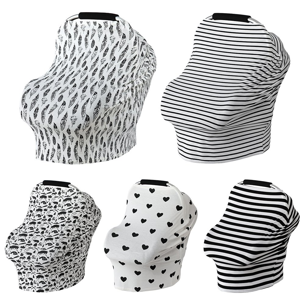 Car Seat Canopy Nursery Cover up Breastfeeding Scarf Baby Shower Gift for Boys Girls (Animals) Quemu Co. Ltd.