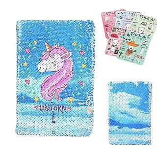 shager–unicorno paillettes QUADERNO–bambine Festa di adulti regali di Compleanno del laurea b