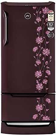 Godrej 225 L 4 Star Direct Cool Single Door Refrigerator(RD EDGE DUO 225 PD INV4.2 ERICA Wine, Erica Wine, Base Stand with Drawer, Inverter Compressor)