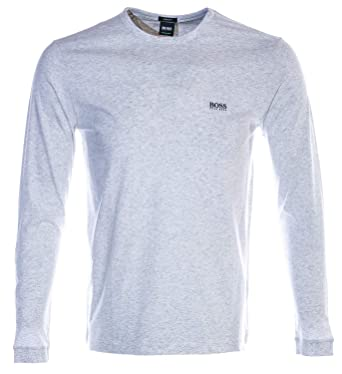 8f068fc05 BOSS Togn Long Sleeve T Shirt in Grey   Amazon.com