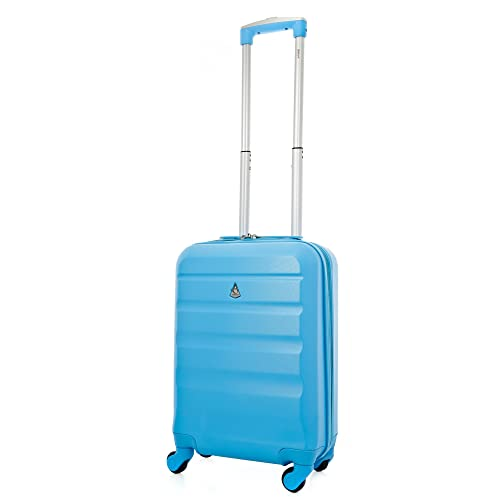 75f99b60e Aerolite Super Lightweight ABS Hard Shell Travel Carry On Cabin Hand  Luggage Suitcase with 4 Wheels
