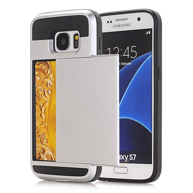 Samsung Galaxy S6 Funda, Galaxy S6 Tarjeta Titular Caso, híbrida ...