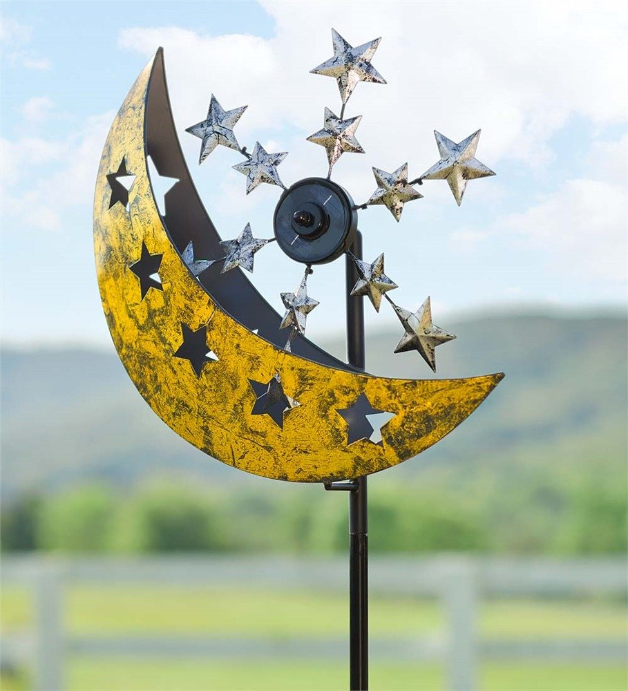 Wind and Weather Solar Moon and Stars Metal Wind Spinner