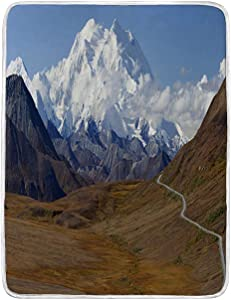 BEIVIVI USA Throw Blanket Weighted Blanket Denali National Parkбпs Mt McKinley High Resolution Panarama Alaska USA Bed Blanket for Couch Bed Sofa, 50Wx70L