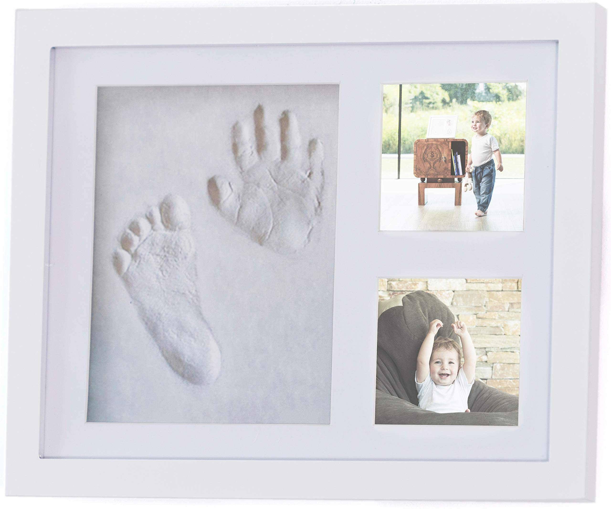 Baby/Newborn Handprint & Footprint foto Frame kit for The Keepsake with Accessories & Gift Box by 4Baby Stars -Awesome Boy & Girl Baby Shower Gift for Registry -Baby Room Decor -Unique Baby Memory