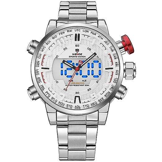Reloj de pulsera analógico para hombre de acero inoxidable ...