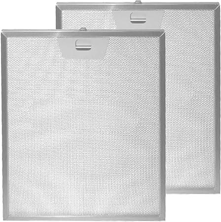 Spares2go - Filtro de grasa para ventilador extractor de campana de horno Hotpoint-Ariston (300 x 253 mm, 2 unidades): Amazon.es: Hogar