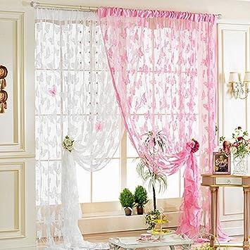 Lanlan Quaste Fenster Zimmer Vorhang Trennwand Schal Herz Stil Line