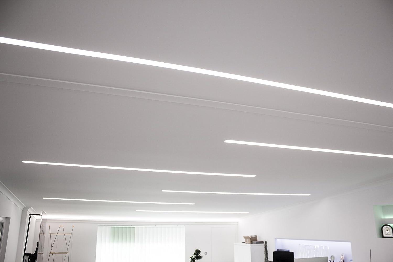 Leisten f/ür Gipsplatten lichtundurchl/ässig LED Trockenbau Profil f/ür indirekte Beleuchtung KD112 1,15 m 165x60mm Rigips//XPS Lichtvoute
