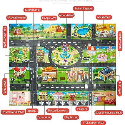Mapa Ciudad Para Niños.Alfombra De Juegos Para Ninos 39 Piezas Modelo De Mapa De
