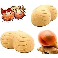 Real Stress Ball for Adults Testicles Nuts Men Squeeze Balls - Gift for Women Men Girlfriend Boyfriend - NeedForGift