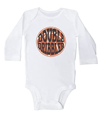 cfabf5555 Amazon.com  Double Dribbler   Funny Baby Basketball Onesie for Boys ...