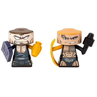 VS Rip-Spin Warriors The Rock vs Undertaker 2 Pack: Toys & Games