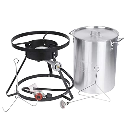Amazon.com : Backyard Pro Weekend Series 30 Qt. Turkey Fryer Kit with  Aluminum Stock Pot and Accessories - 55, 000 BTU All-in-One Thanksgiving  Outdoor ... - Amazon.com : Backyard Pro Weekend Series 30 Qt. Turkey Fryer Kit